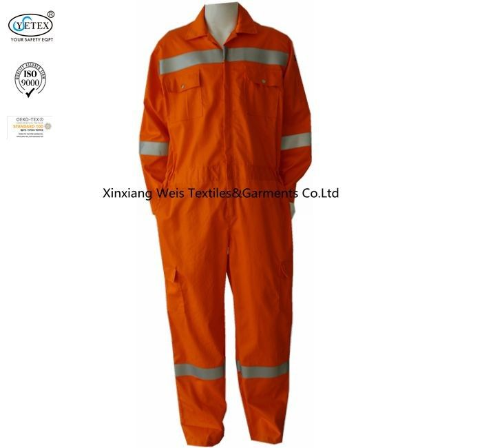 Welding Frc Coveralls With Reflective Tape Anti Arc Flash Comfortable