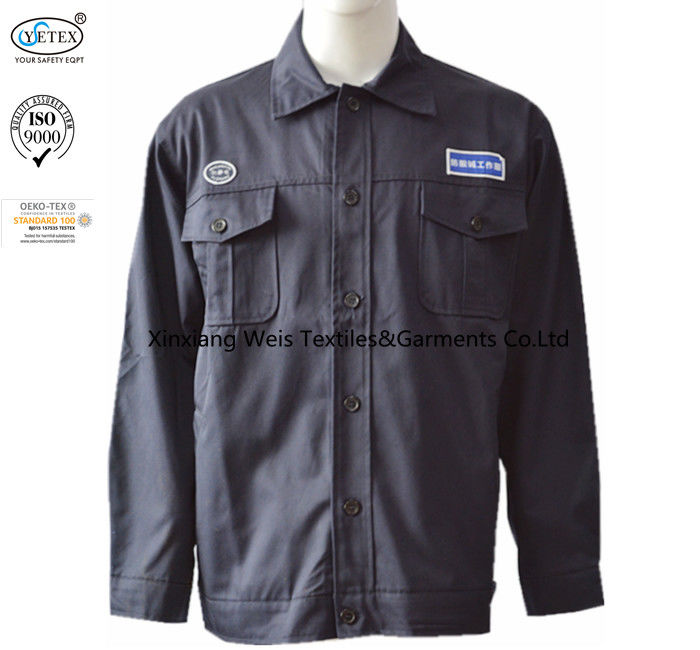 Black Fr Rated Jackets Shirt Anti Static Acid Alkali Resistant Oil Gas Working