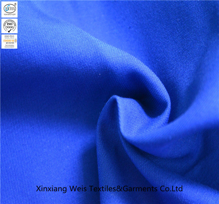 Royal Blue Plain Fire Retardant Fabric / Flame Resistant Textiles Light Weight