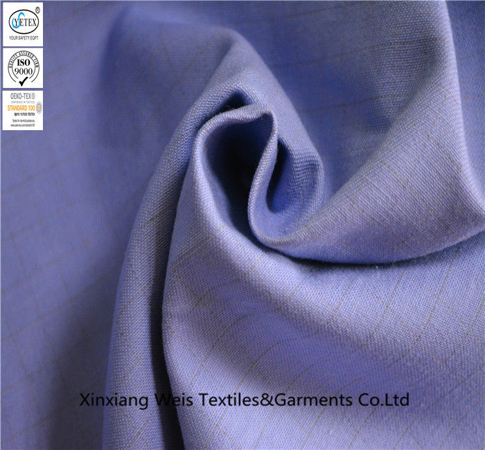 Frc Flame Resistant Cotton Anti Static Polyester Fabric Cloth For Garment