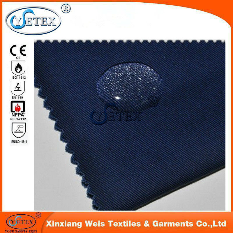Flame Retardant Cotton Polyester Oil Resistant Fabric Waterproof Safety Cloth Support