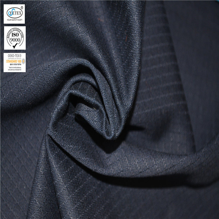 Navy Blue FR Anti Static Ripstop 300g Oil Repellent Fabric